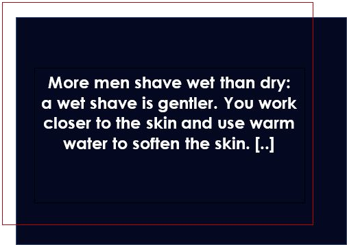 The wet shave